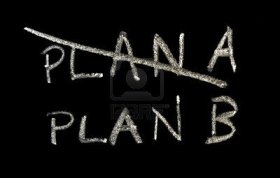 6081060-plan-a-and-plan-b-on-a-blackboard
